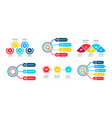 infographic set with abstract elements timeline vector image