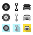 isolated object auto and part symbol vector image