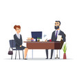 job interview business office meeting hr managers vector image