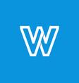 logo letter w white vector image vector image