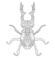Lucanus cervus Coloring for adults vector image vector image