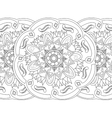 Mandala coloring seamless for adults vector image