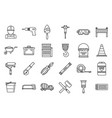modern building reconstruction icons set outline vector image vector image