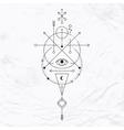 Modern geometric alchemy symbol vector image vector image