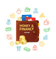 money finance concept vector image vector image