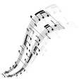 Music notes wave vector image vector image