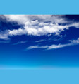 night sky background with white clouds layered vector image vector image