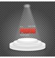 Photorealistic Winner Podium Stage vector image vector image