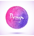 Pink watercolor pencil circle vector image vector image