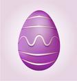 Purple Easter Egg vector image