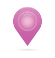 purple map pointer icon marker GPS location flag vector image vector image