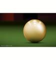realistic billiard ball vector image vector image