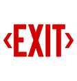 Red Exit Sign vector image