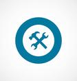 repair bold blue border circle icon vector image vector image