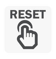 reset icon black vector image
