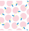 seamless pattern with pink apples vector image vector image