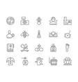 set alternative medicine line icons bathhouse vector image