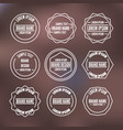 set of vintage emblems with thin lines vector image vector image