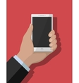 Smartphone flat concept vector image vector image