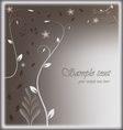 Stylized card with floral background