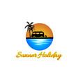 summer holiday logo design vector image vector image