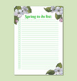 to do list printable template vector image