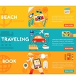Traveling Concepts - Beach Sightseeing Searching vector image