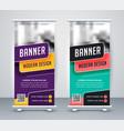 trendy rollup creative banner design template