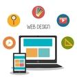 web development design vector image vector image