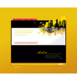 Website template with city art vector image vector image