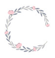 wreath of flowers and leaves of vintage style vector image vector image