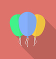 Icon of balloons Flat style vector image