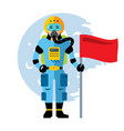 space astronaut flat style colorful vector image