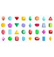jewel icons set flat style vector image