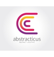 abstract c character logo template vector image vector image