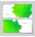 Abstract Watercolor Green Banners vector image vector image