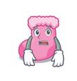 afraid sock mascot cartoon style vector image