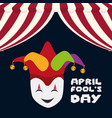 april fools day mask joker hat vector image vector image