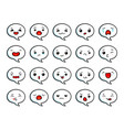 asian cute emoji vector image vector image