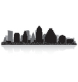 Austin USA city skyline silhouette vector image vector image
