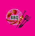 barbecue party logo vector image vector image