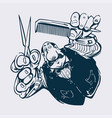 barber cartoon vector image