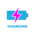 battery charging icon color sign on white vector image
