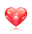 Beautiful red glossy heart shape vector image