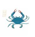 Blue crab cartoon vector image