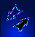 blue neon marquee vector image