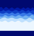 blue waves water background vector image vector image