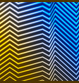 blue yellow neon curved lines refraction vector image vector image