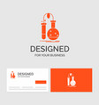business logo template for testing chemistry vector image