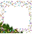 Christmas lights isolated on white EPS 10 vector image vector image